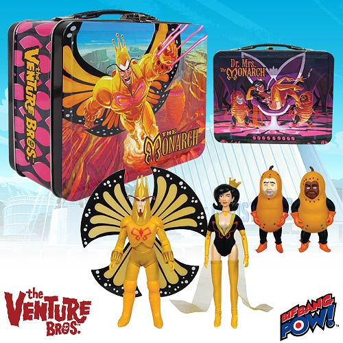 Order Venture Bros. Monarch & Dr. Mrs. in Tin-Convention Exclusive from Entertainment Earth!