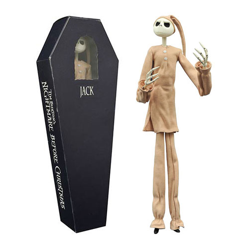 Nightmare Before Christmas Jack in Pajamas Coffin Action Figure