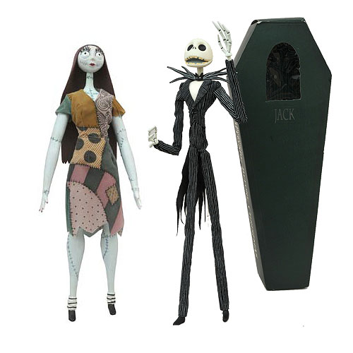 Nightmare Before Christmas Jack and Sally Action Figure Coffin 2-Pack